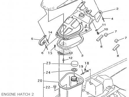 Yamaha Gp800w 1998 parts list partsmanual partsfiche