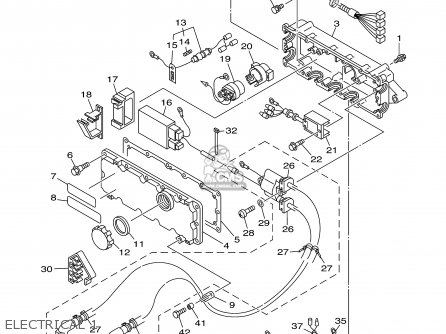Yamaha Gp800y 2000 parts list partsmanual partsfiche