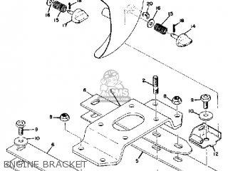 Yamaha Gs300 1976 parts list partsmanual partsfiche