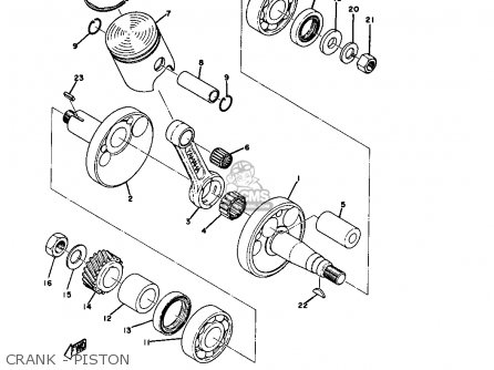 Yamaha Gt80 1973 1974 Usa parts list partsmanual partsfiche