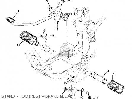 Yamaha Gt80 1975 Usa parts list partsmanual partsfiche