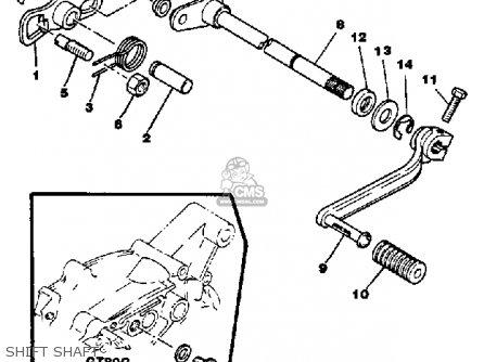 Yamaha Gt80 1979 Usa parts list partsmanual partsfiche