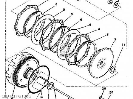 Yamaha Gt80e/e-009161 1978-1980 parts list partsmanual
