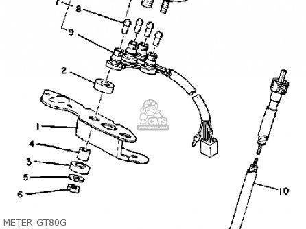 Yamaha Gt80g 1978-1980 parts list partsmanual partsfiche