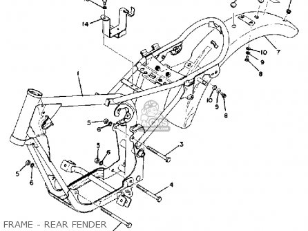 Yamaha GTM80X 1975 USA parts lists and schematics