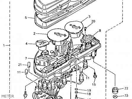 Yamaha GTS1000AC 1993 (P) CALIFORNIA parts lists and