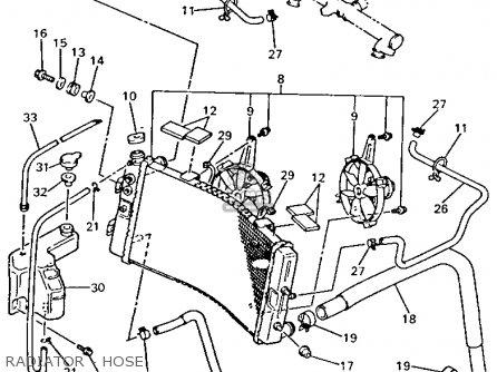 Yamaha Gts1000ac 1993 (p) California parts list