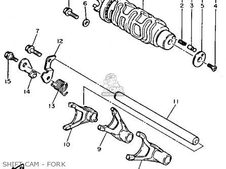 Yamaha Gts1000aec 1993 parts list partsmanual partsfiche