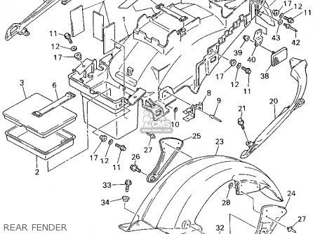 Yamaha Gts1000af 1994 parts list partsmanual partsfiche