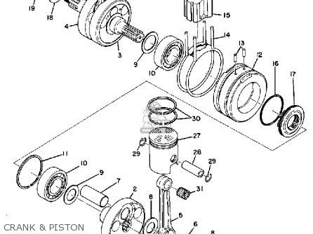 Yamaha Hs1 1970 Usa parts list partsmanual partsfiche