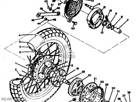 Yamaha HT1B 1970 USA parts lists and schematics