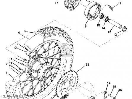 Yamaha It175 1978 Usa parts list partsmanual partsfiche
