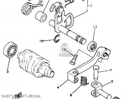 Yamaha It175 1981 (b) Usa parts list partsmanual partsfiche