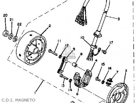Yamaha It175 1983 (d) Usa Canada parts list partsmanual