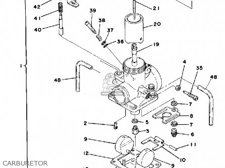 Yamaha It175f 1979 parts list partsmanual partsfiche