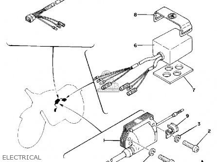 Yamaha It175f 1979 parts list partsmanual partsfiche