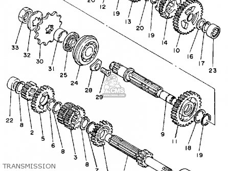Yamaha IT200 1984 (E) USA CANADA parts lists and schematics