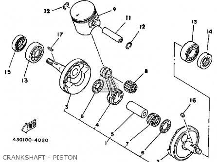 Yamaha It200 1985 (f) Usa Canada parts list partsmanual