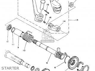 Yamaha It200 1986 1vh France 261vh-351f1 parts list