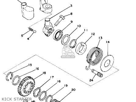 Yamaha IT250 1978 USA CANADA parts lists and schematics