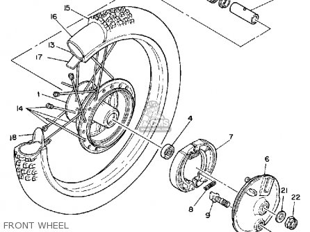 Yamaha It250 1981 (b) Usa parts list partsmanual partsfiche
