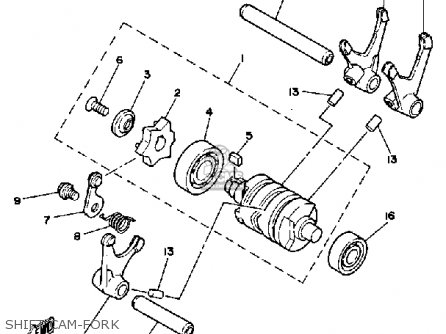 Yamaha It250 1982 (c) Usa Canada parts list partsmanual