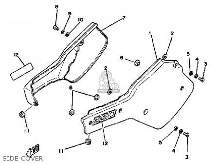 Yamaha It250j 1982 parts list partsmanual partsfiche