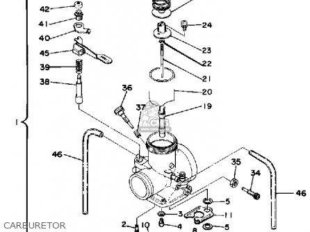 Yamaha It400f 1979 parts list partsmanual partsfiche