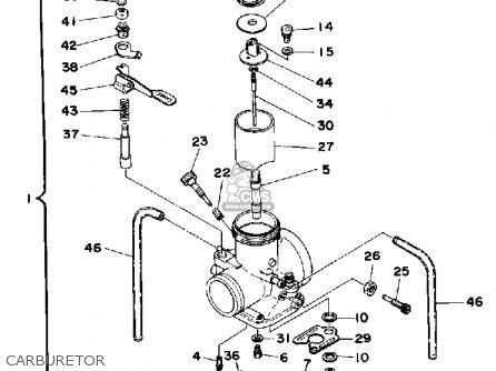 Yamaha It425 1980 (a) Usa parts list partsmanual partsfiche