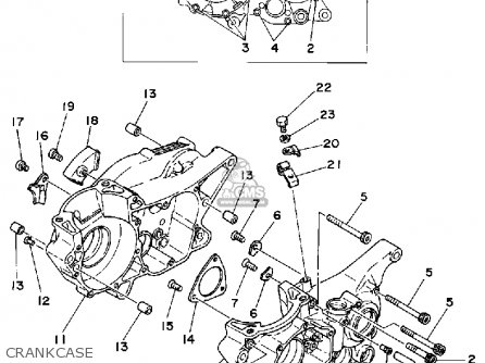 Yamaha It425g 1980 parts list partsmanual partsfiche