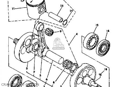 Yamaha It465 1981 (b) Usa parts list partsmanual partsfiche