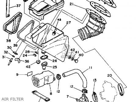 Yamaha It490k 1983/1984 parts list partsmanual partsfiche