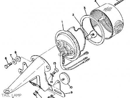 Yamaha Jt2 1972 Usa parts list partsmanual partsfiche