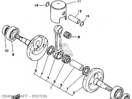 Yamaha Kt100p (engine) parts list partsmanual partsfiche
