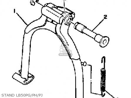 Yamaha Lb50pg Chappy 1980-1982 parts list partsmanual
