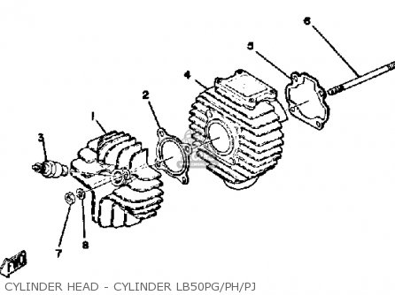 Yamaha Lb50ph Chappy 1980-1982 parts list partsmanual