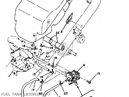 Yamaha LB50PJ CHAPPY 1980-1982 parts lists and schematics