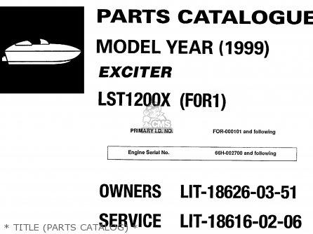 Yamaha Lst1200x 1999 parts list partsmanual partsfiche