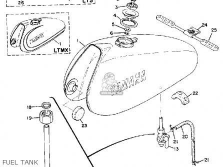 Yamaha Lt2m 100 Motocross 1972 1973 Usa parts list