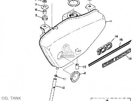 Yamaha LT2M 100 MOTOCROSS 1972 1973 USA parts lists and