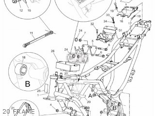Yamaha MT03 2012 2BF1 EUROPE 1L2BF-300E1 parts lists and