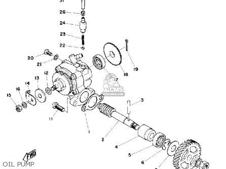 Yamaha Mx100 1975 Usa parts list partsmanual partsfiche
