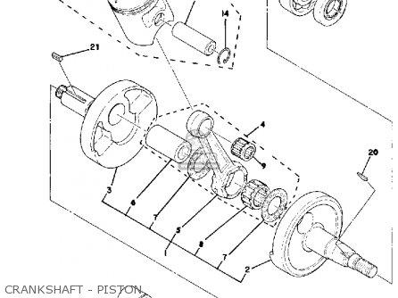 Yamaha Mx100 1980 (a) Usa parts list partsmanual partsfiche