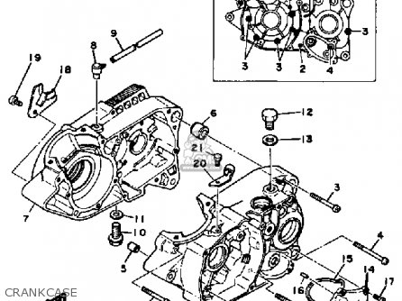Yamaha Mx100 1982 (c) Usa parts list partsmanual partsfiche