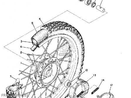Yamaha Mx125 1974 Usa parts list partsmanual partsfiche