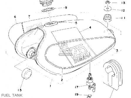Yamaha Mx125c 1976 parts list partsmanual partsfiche