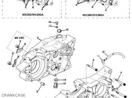 Yamaha Mx250 1974 Usa parts list partsmanual partsfiche