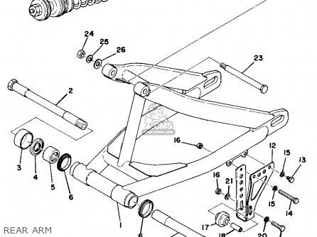Yamaha Mx250 1975 Usa parts list partsmanual partsfiche