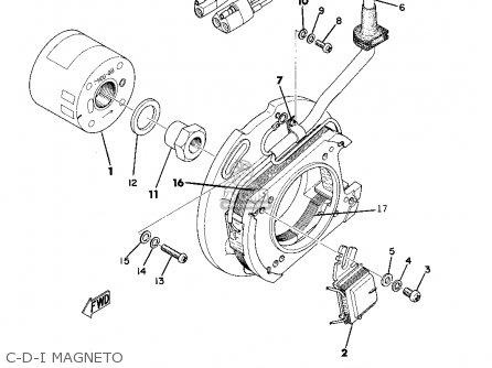 Yamaha Mx250a 1973/1974 parts list partsmanual partsfiche