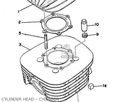 Yamaha Mx250b 1975 parts list partsmanual partsfiche